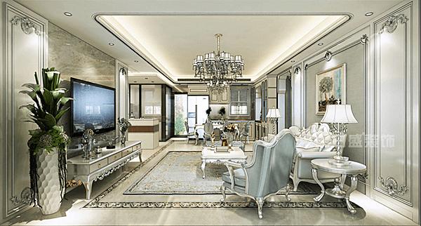 灯光可以很好的装饰墙面,客厅的电视背景墙可以根据整体布局来设计