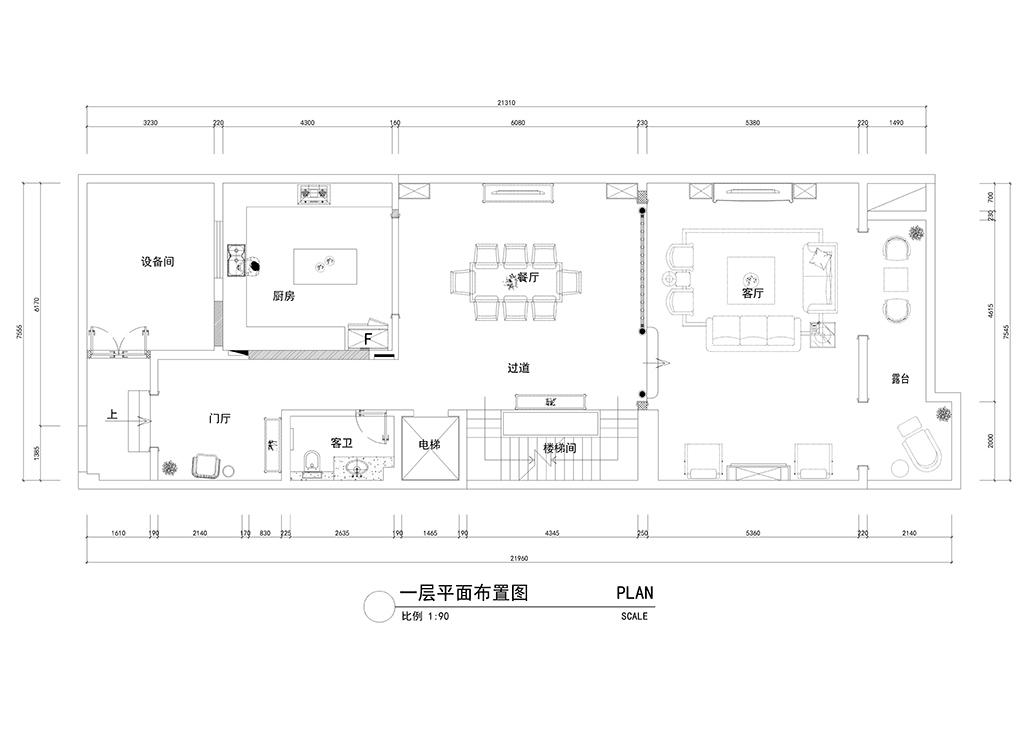 金地芙蓉世家 欧式新古典风格实景案例图 380平米装修设计理念