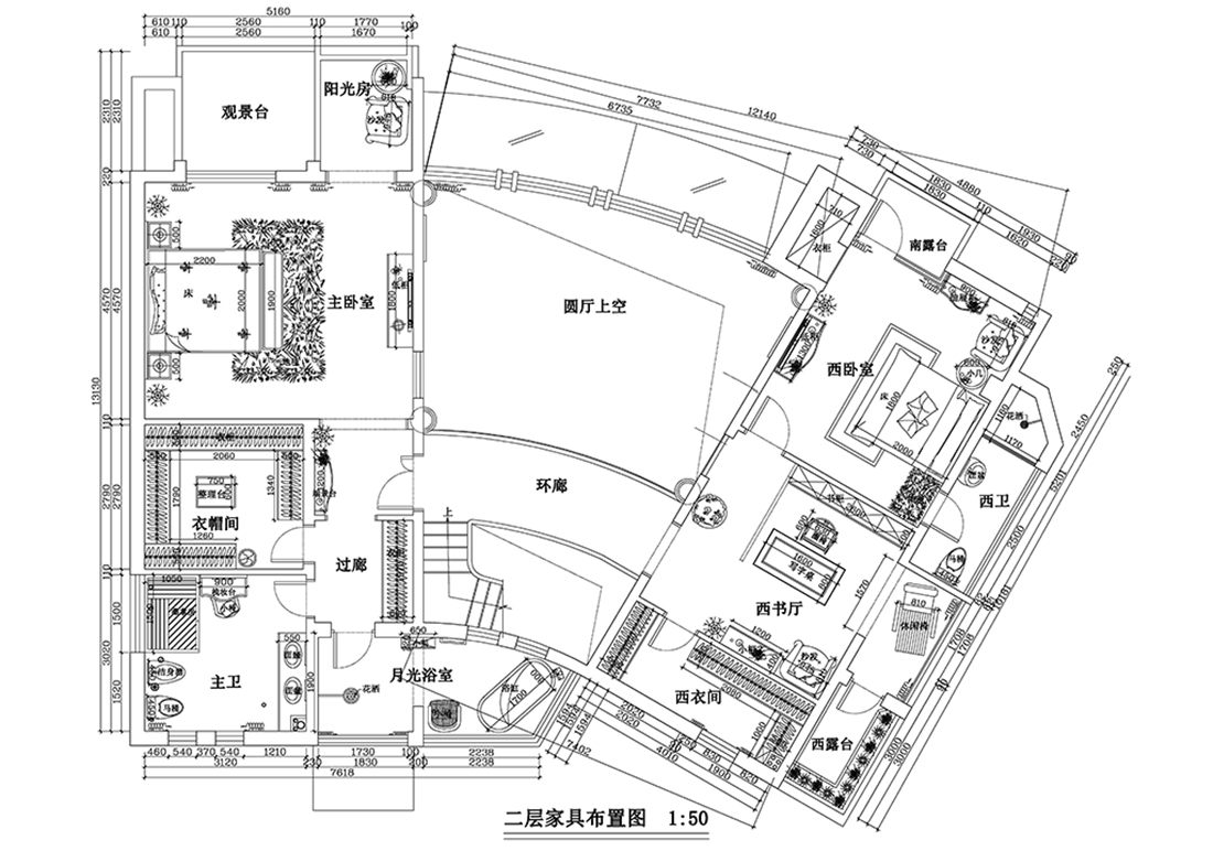 湾流汇-500平米-现代简约装修设计理念