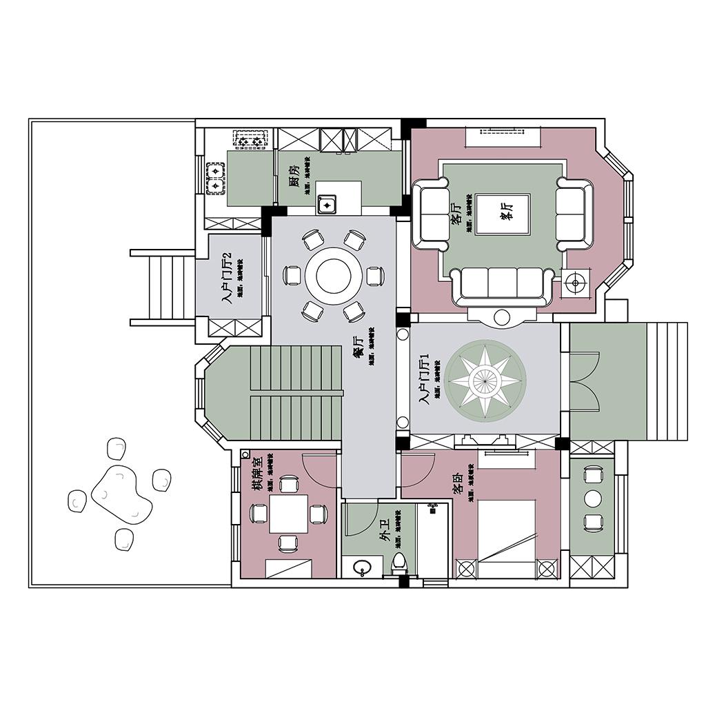 水韵花园 欧式风格 360㎡装修设计理念