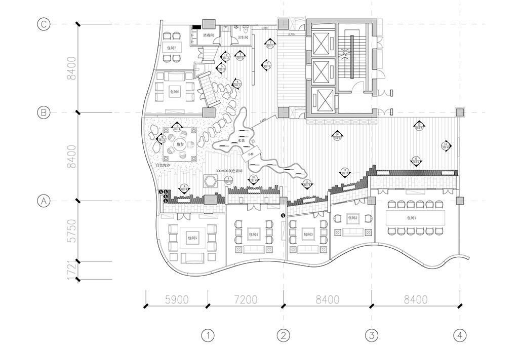 茶楼-中式-530㎡装修设计理念