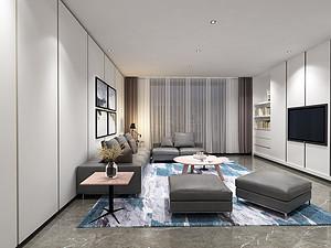 九夏云水180㎡四居室现代极简风格户型解析