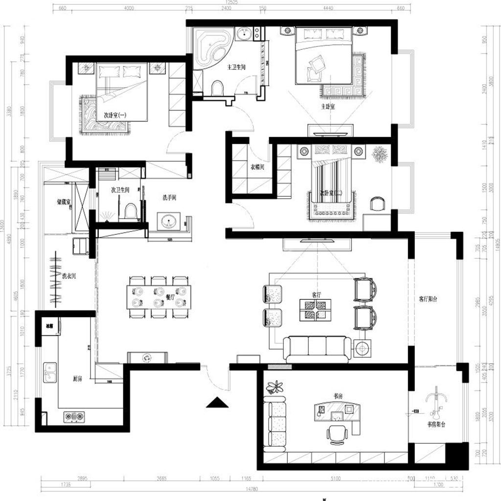 御翠园 雅致主义 370㎡ 精致主流装修设计理念