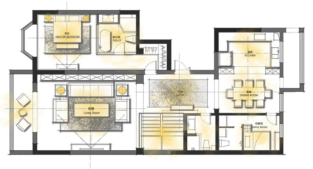 万科城市花园400平米欧式设计效果图装修设计理念