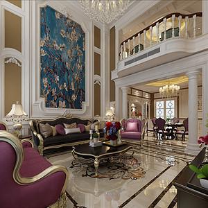 佛山别墅装修效果图欧式古典风,高贵典雅就是它了。
