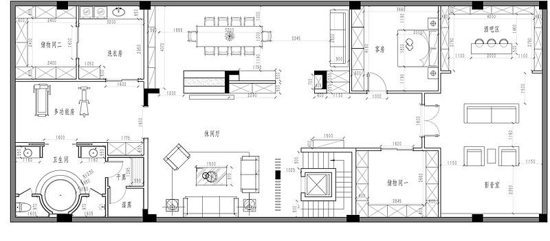 金地悦荔540㎡现代+新中式别墅设计案例装修设计理念