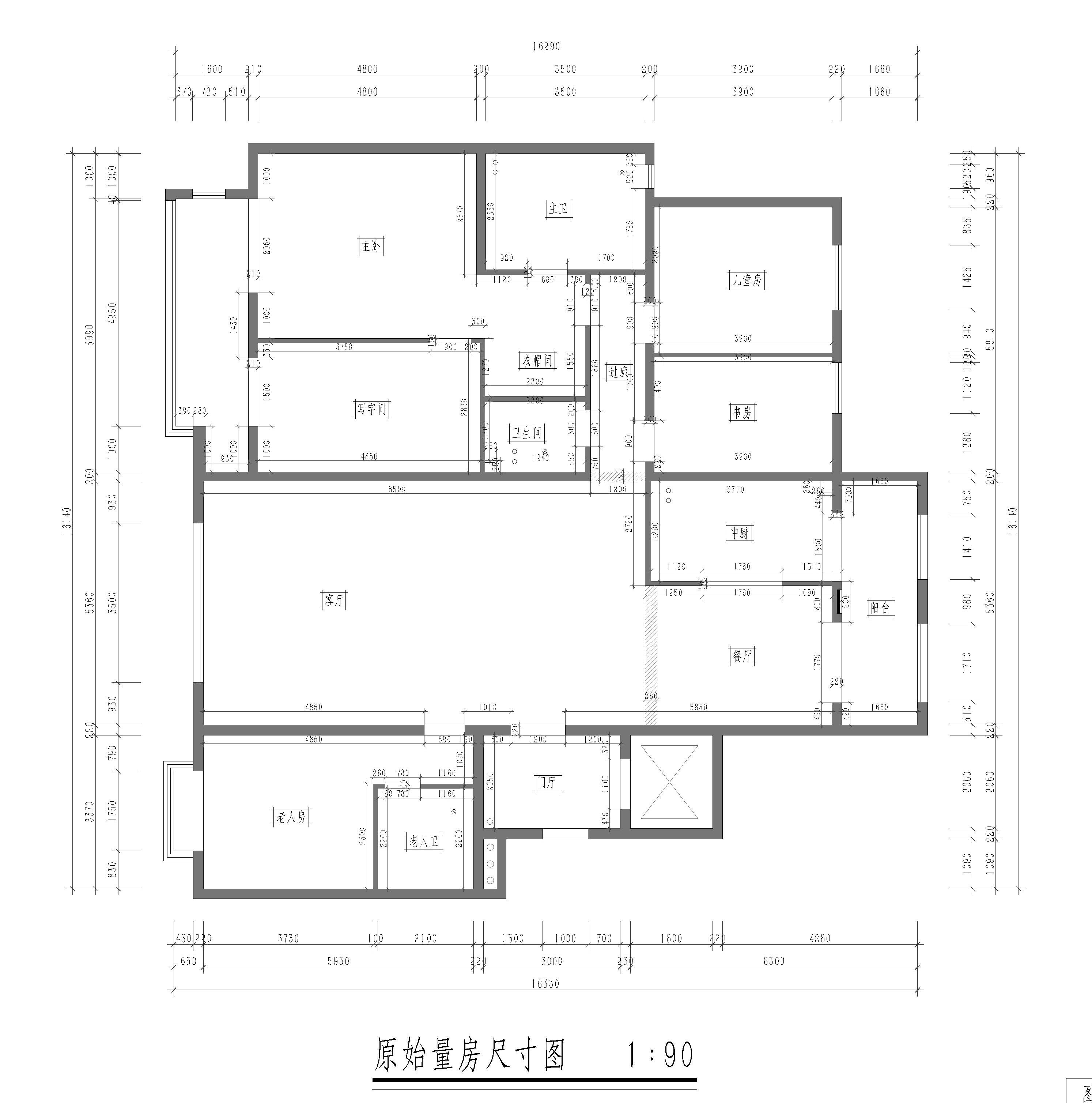 小井润园-191平米-现代中式-装修效果图装修设计理念