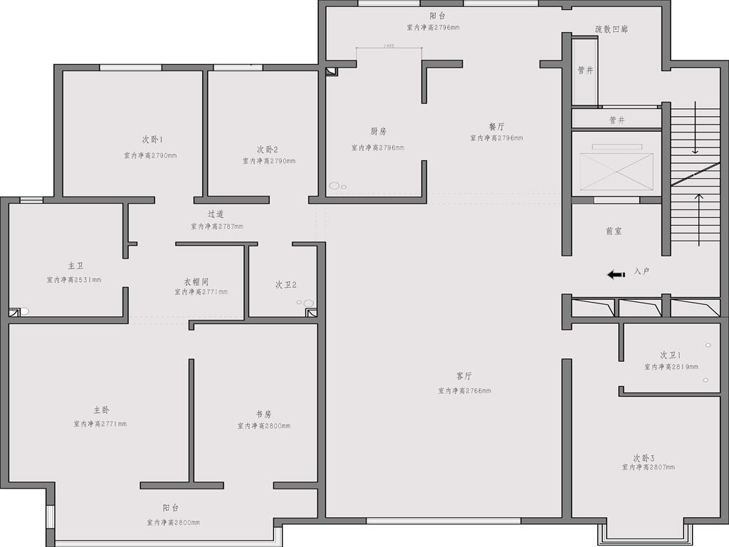 小井望园 244平米 美式装修设计理念