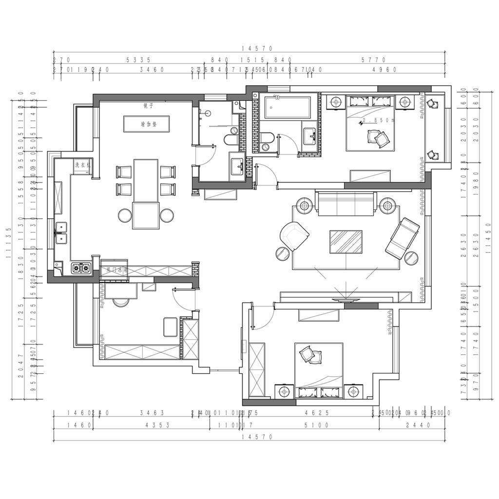 高新和园 现代简约 160㎡装修设计理念