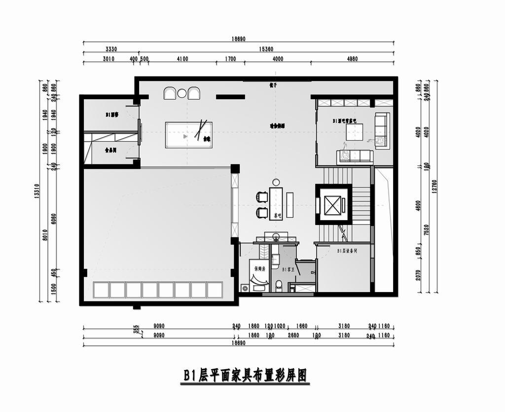 优山美地-美式-700平米装修设计理念