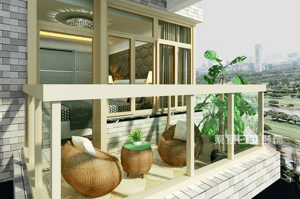 与阳光一同生活,装修完美阳台