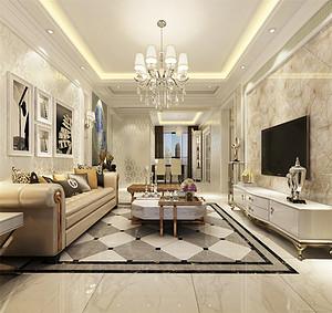 130平后现代风格三室装修效果图,一个轻松、宽容的休闲舒适空间!