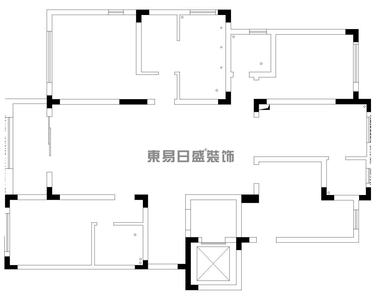 景枫法兰谷185平简欧风格装修设计理念