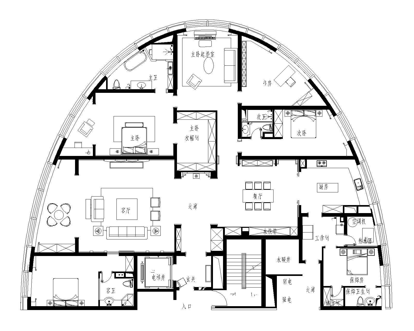 星海CEO公馆-欧式古典-400平装修设计理念