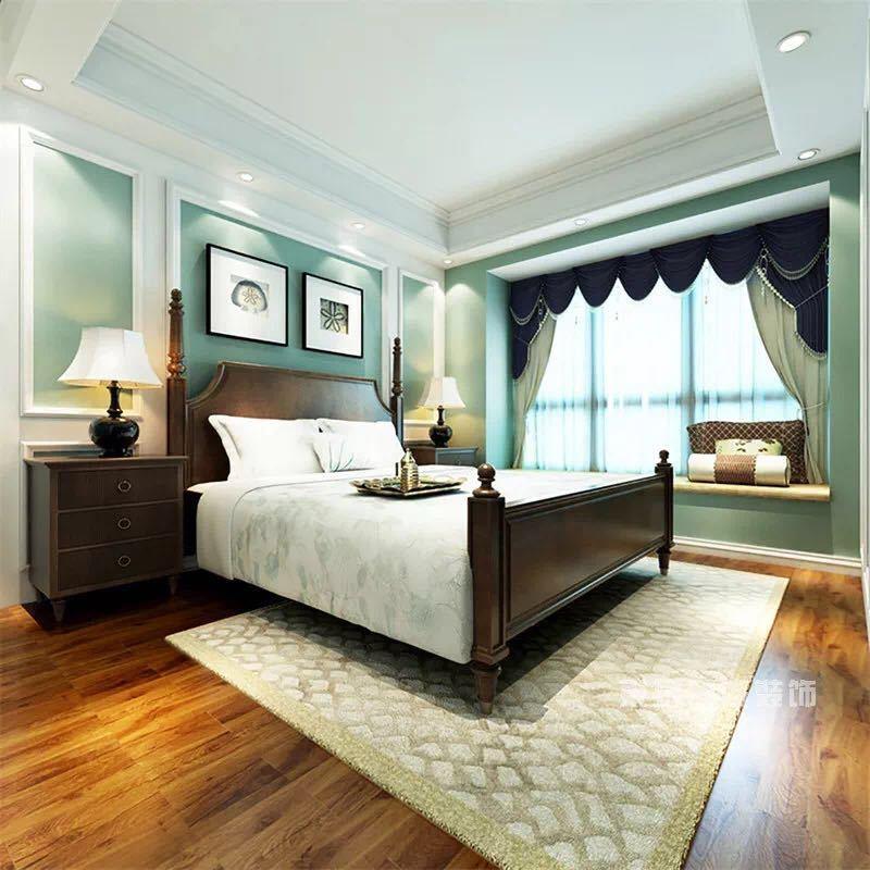 卧室欧式家具及壁纸护墙板的结合复活了
