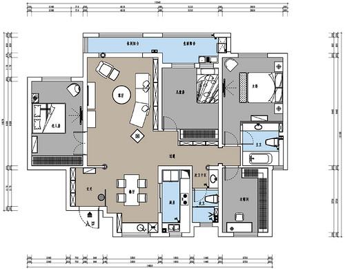 复地东湖七期中式混搭风格147平米装修效果图装修设计理念