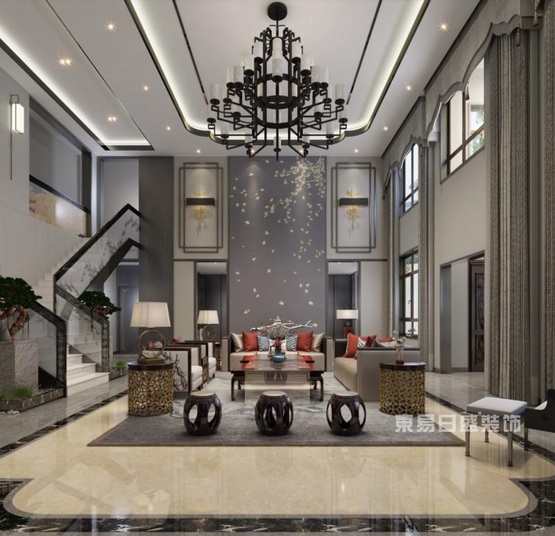 新中式别墅装修效果图欣赏,新中式别墅装修颜色怎么搭配