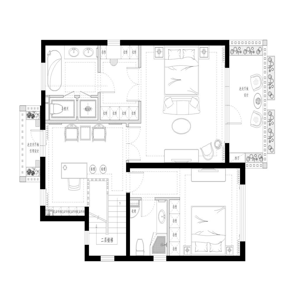 云溪花园  330平米 美式现代装修设计理念