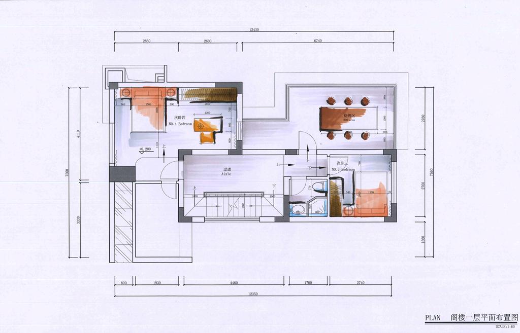 仁山智水-简欧-400平-别墅装修效果图装修设计理念