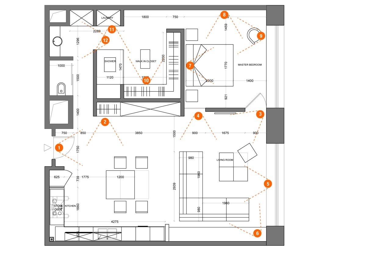 合生世界村 现代简约 230平米装修设计理念