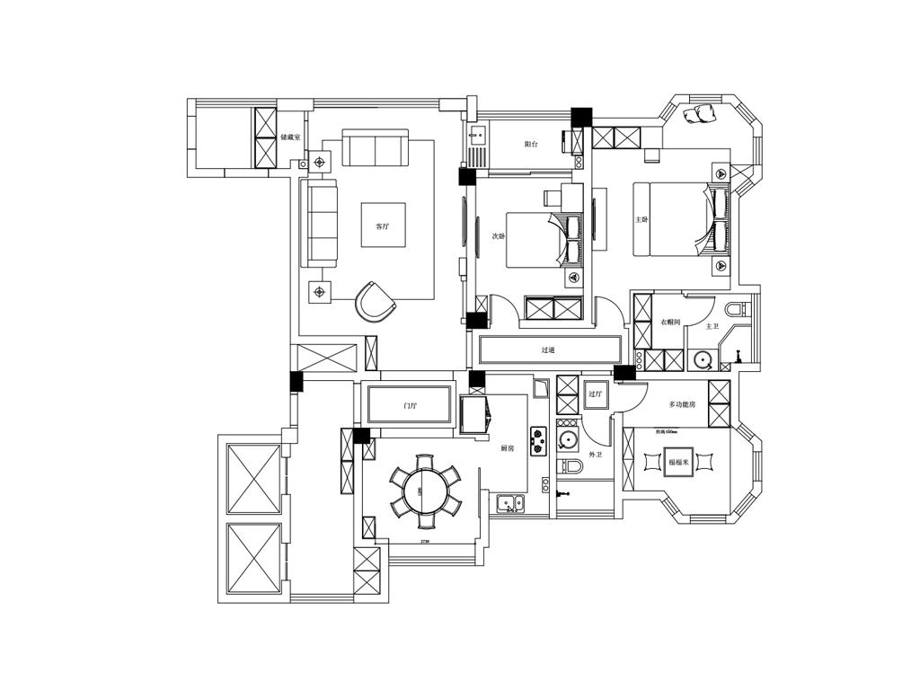 中央城140平现代轻奢装修设计实景图装修设计理念