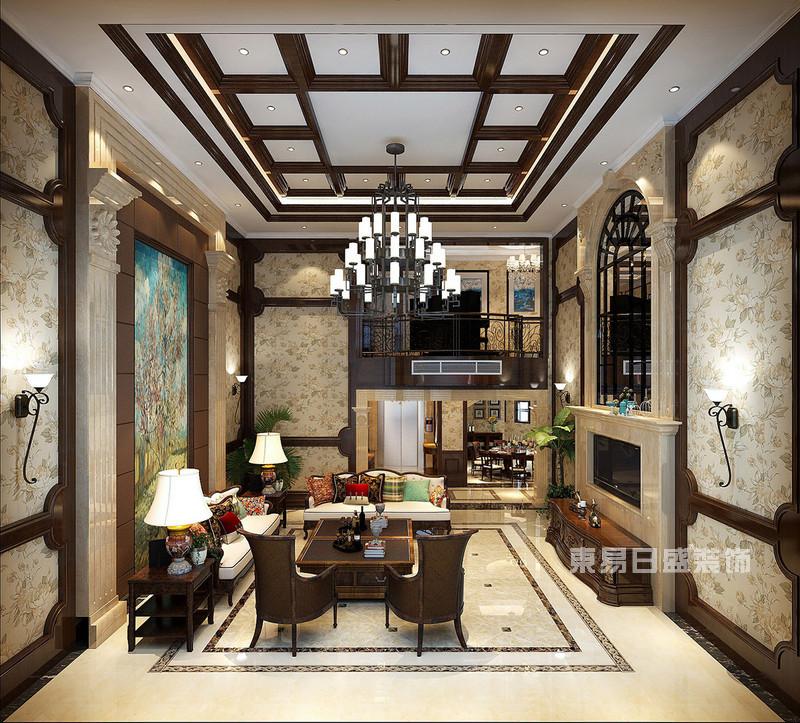 从这些美式别墅装修效果图和样板间中感受中产人群生活方式