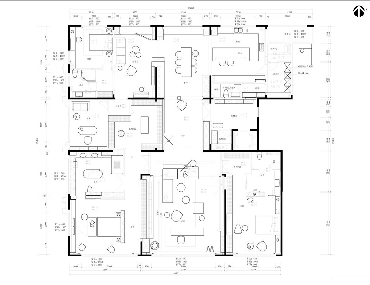 西山壹号院 现代风格 388平装修设计理念