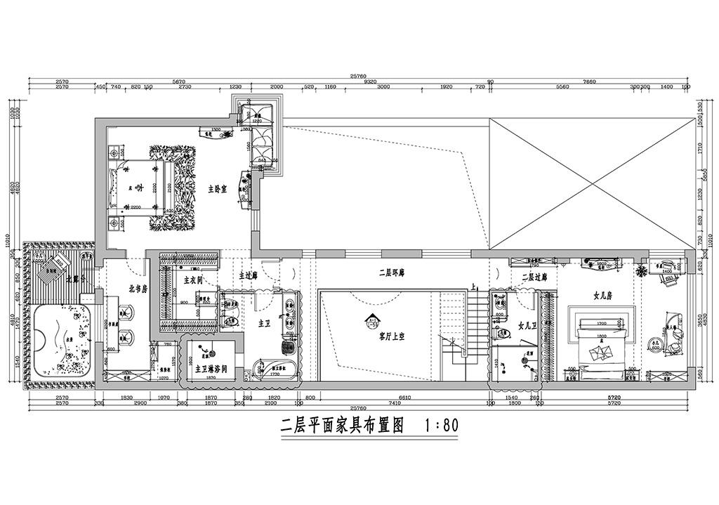 中间建筑-520平米-美式风格装修设计理念