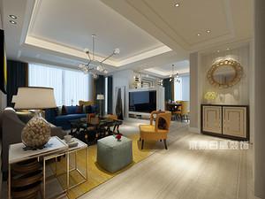 深圳140平房子装修成现代美式风格,典雅又精致