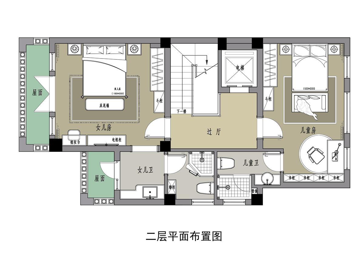 帝景天誉-202平-现代简约装修设计理念