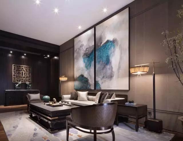 深圳东易日盛原创国际新中式客厅装修效果图