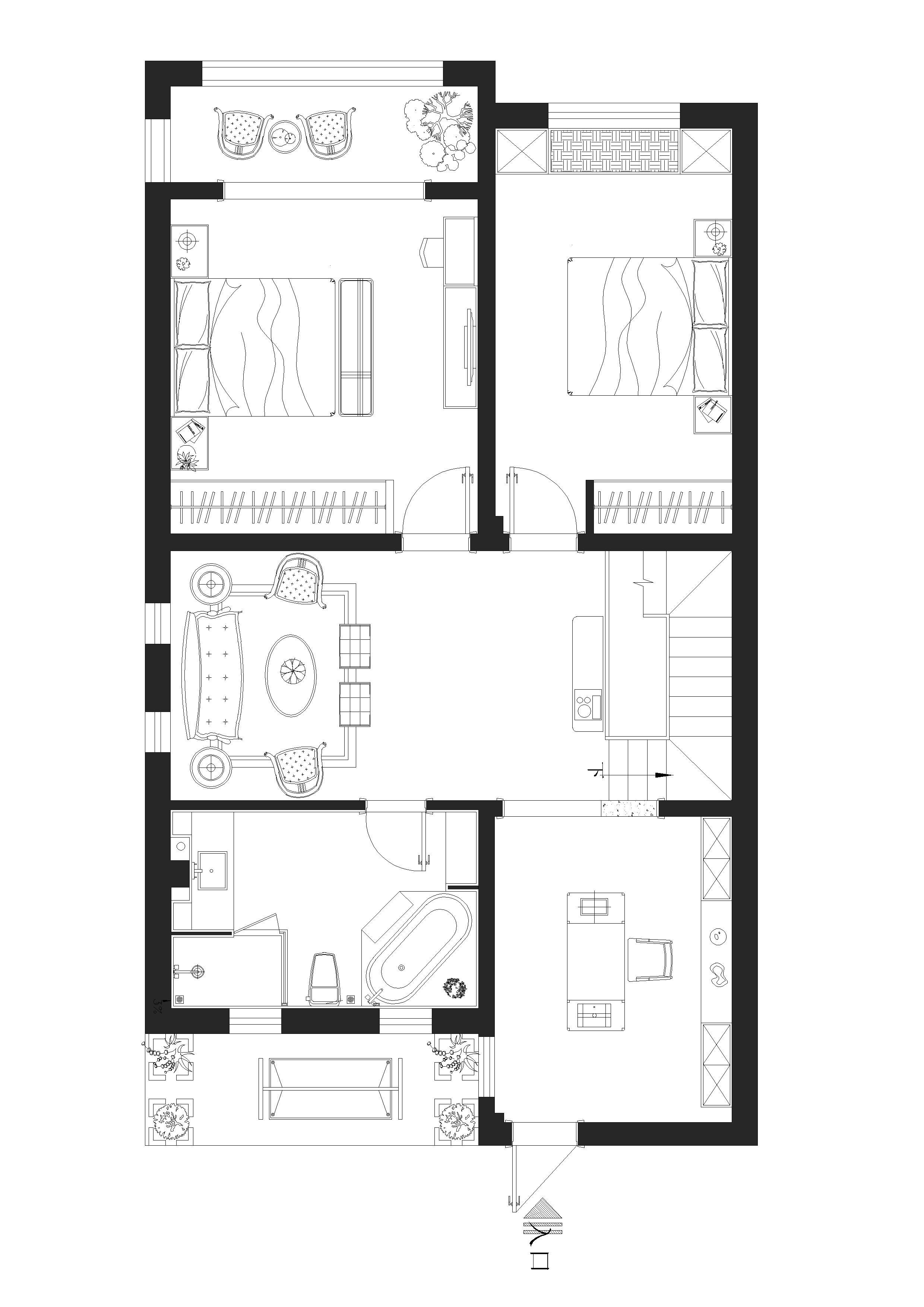天泰蓝山 180㎡ 新古典装修设计理念