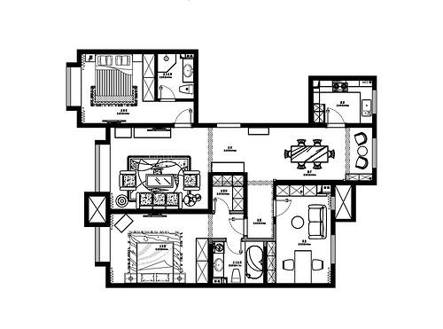 融创中心-简约欧式-149平米装修设计理念