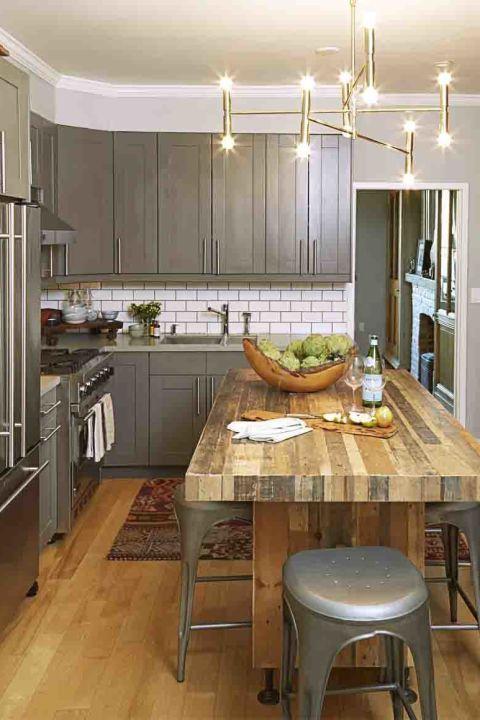 深灰色厨房效果图