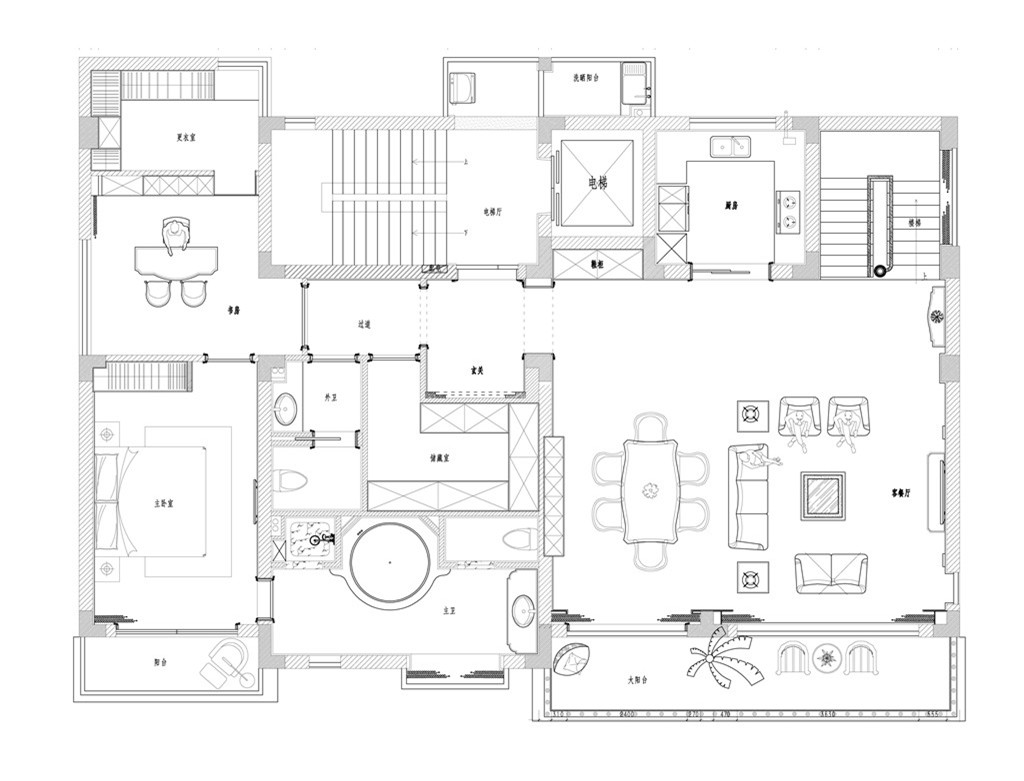 翁垟自建房340平简欧设计装修效果图装修设计理念