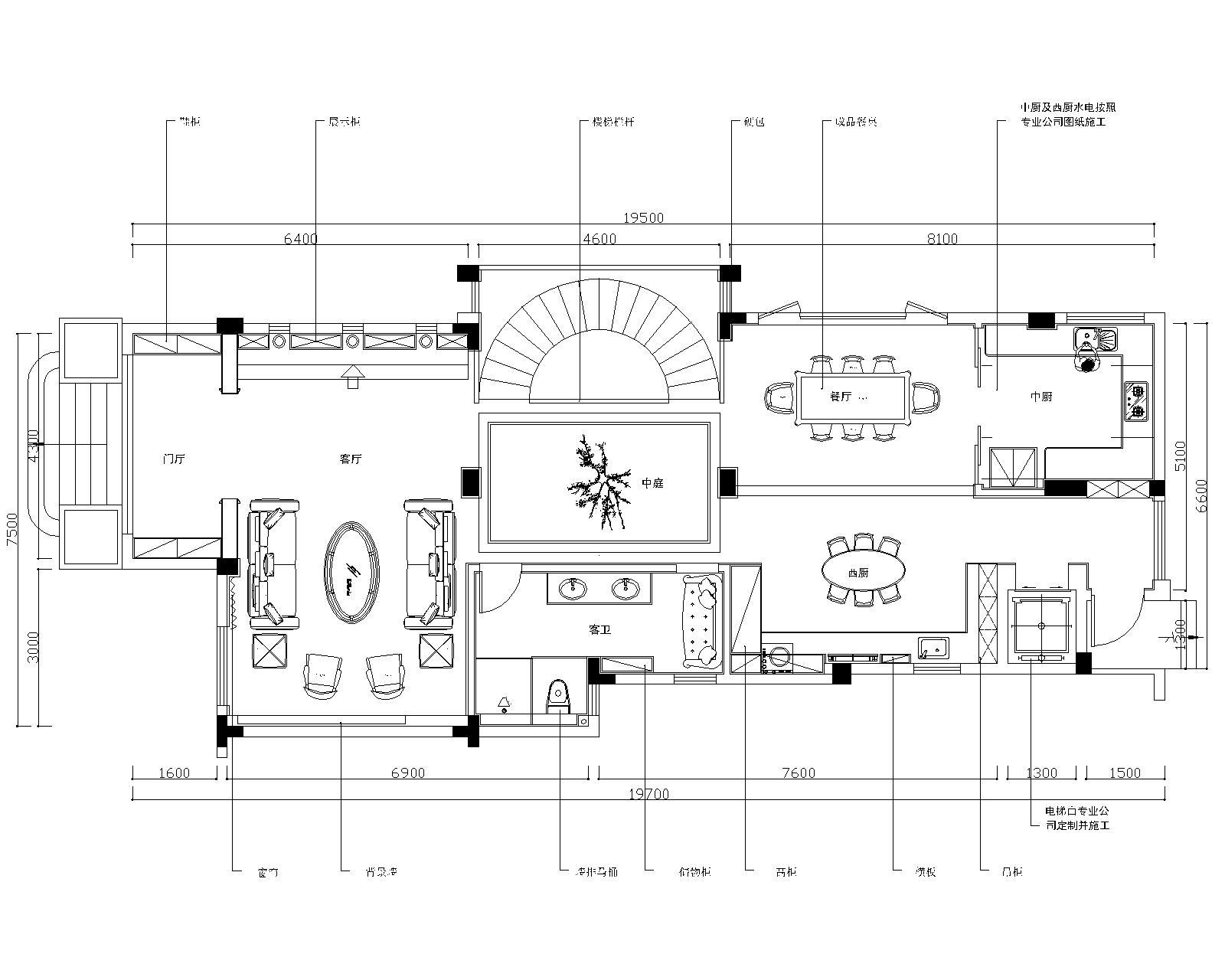 山河水别墅-中式风格-800㎡别墅装修效果图装修设计理念