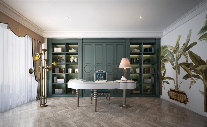 129平米现代风格装修-书房