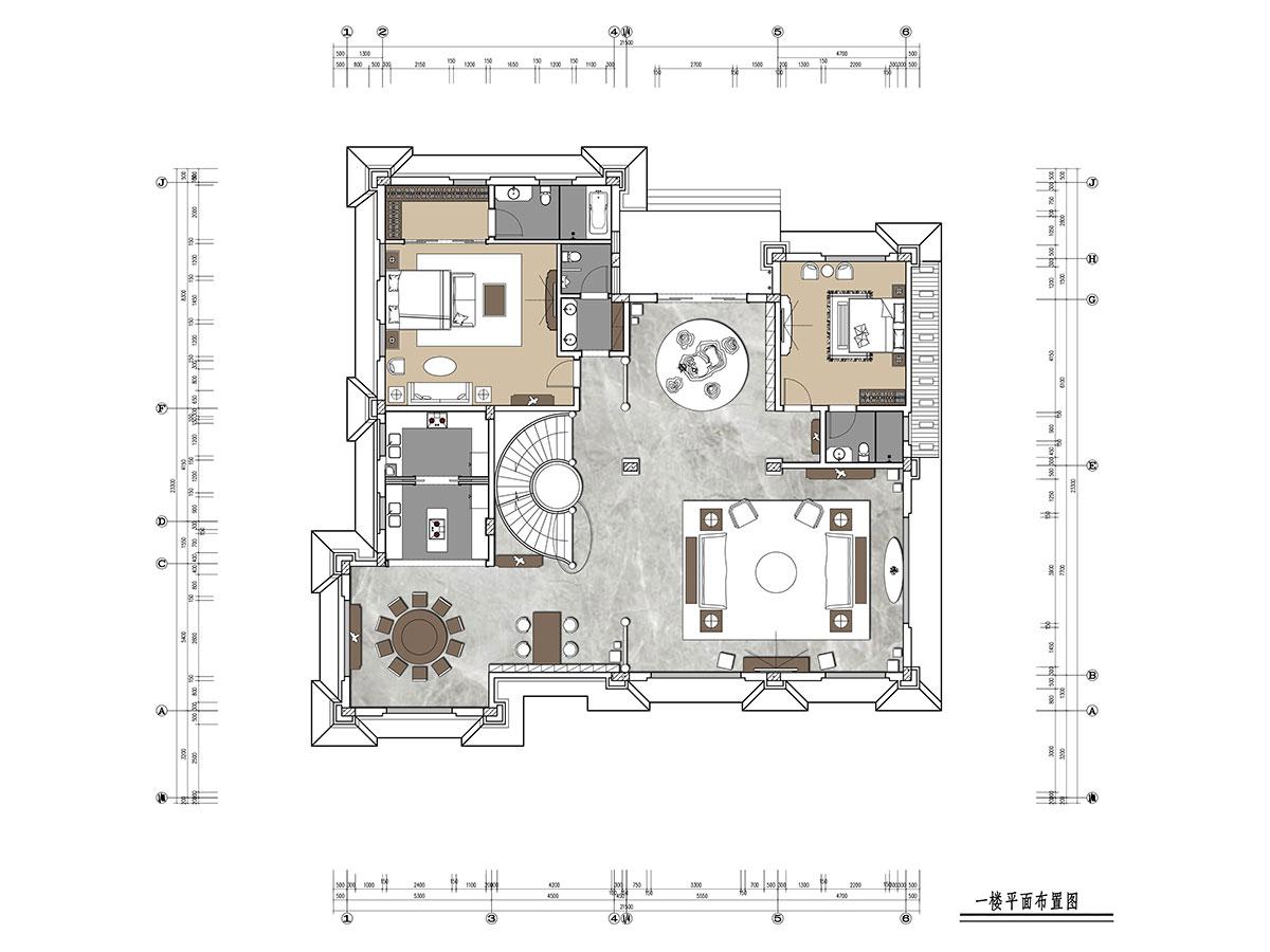 278平别墅新中式风格丨华侨城东岸装修案例装修设计理念