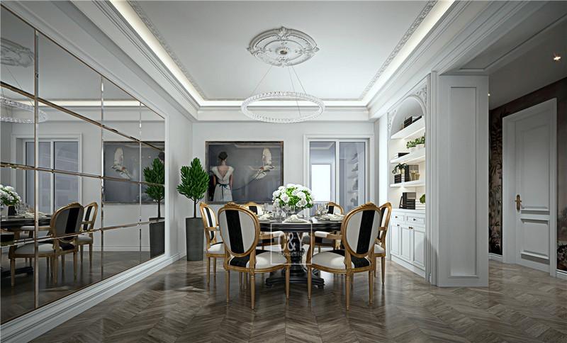 129平米现代风格装修-餐厅