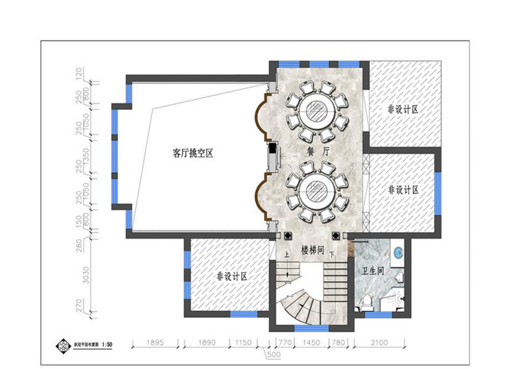 锦绣家园欧式风格450㎡效果图装修设计理念