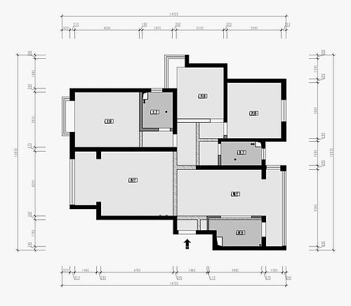 锦绣半岛 160平米三室两厅装修 新中式风格装修效果图装修设计理念