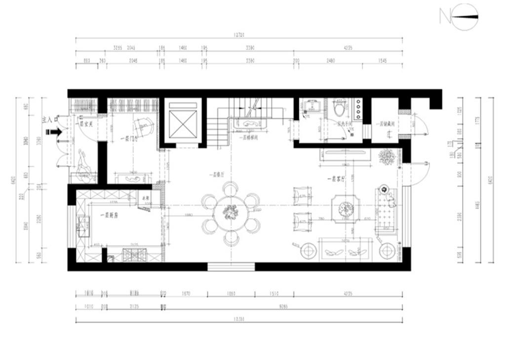 首城汇景墅410㎡混搭风格装修效果图装修设计理念