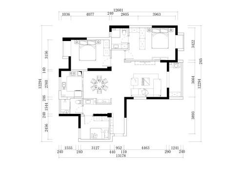 金地天悦131平米现代中式风格装修实景图装修设计理念