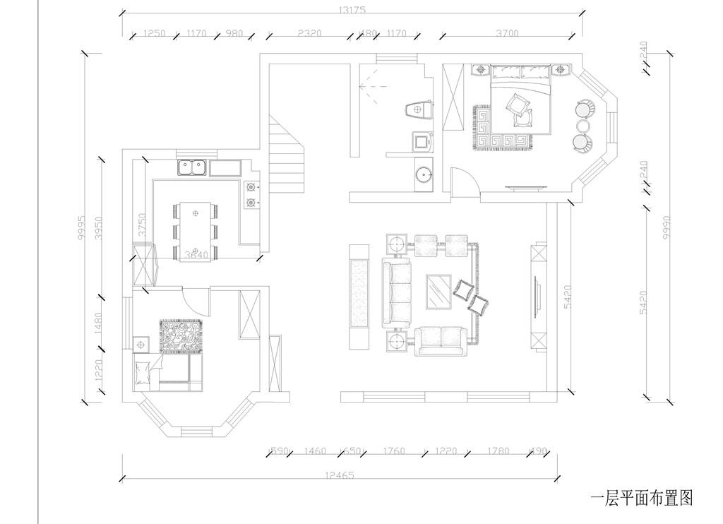 东方普罗旺斯-500平-美式乡村风格装修效果图装修设计理念