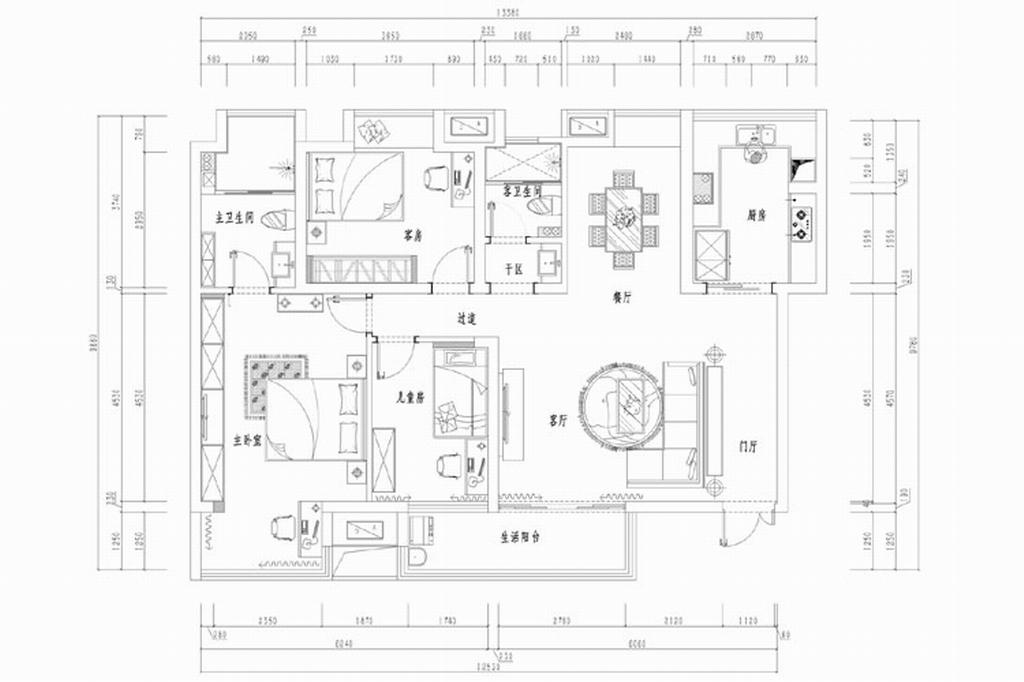 纯水岸现代美式新房装修效果图装修设计理念