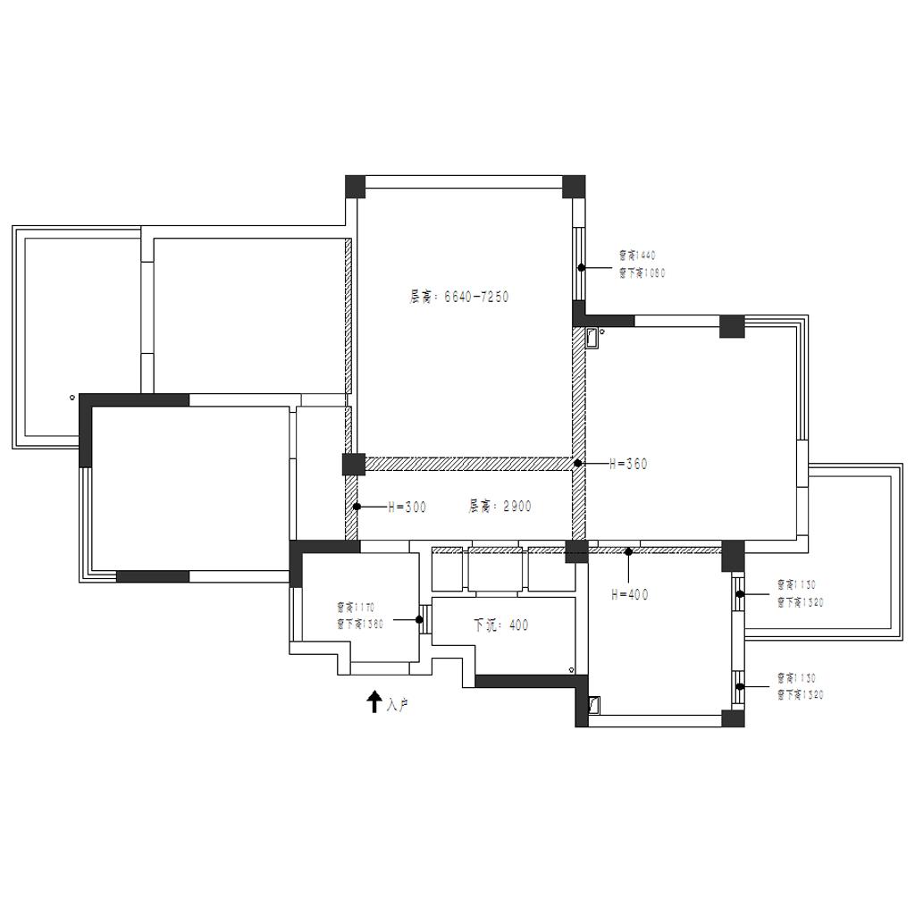 碧桂园简欧风格180平米设计装修设计理念