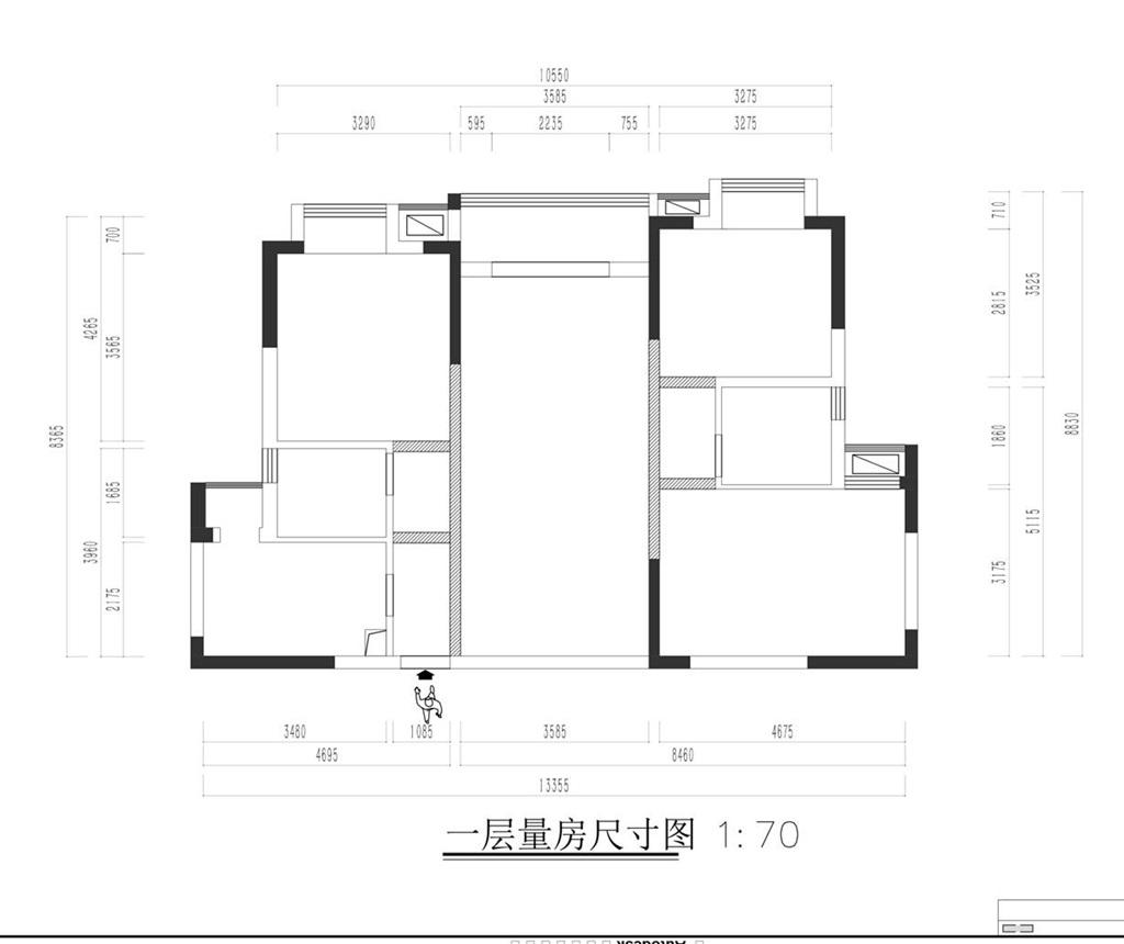 武昌揽胜公园-现代法式风格-130平米三室两厅装修效果图装修设计理念