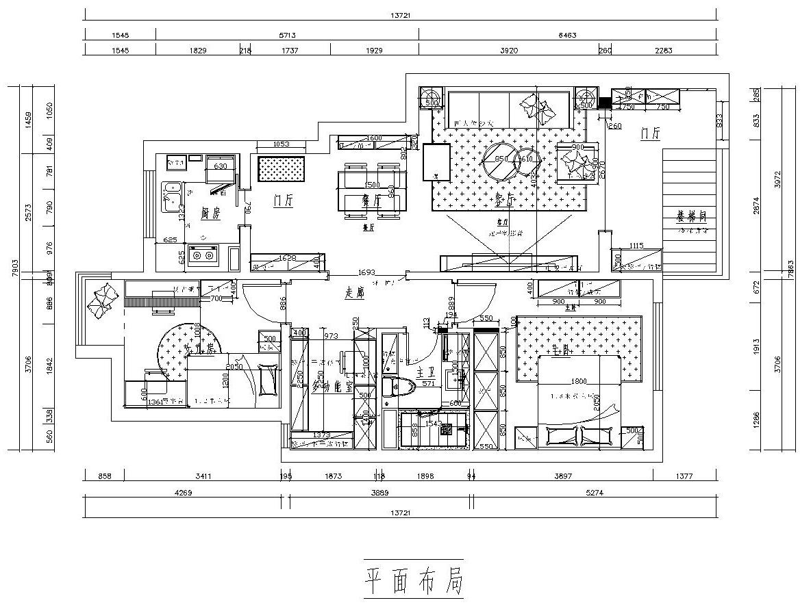 北京东坝中街-210平米-美式田园-装修效果图装修设计理念