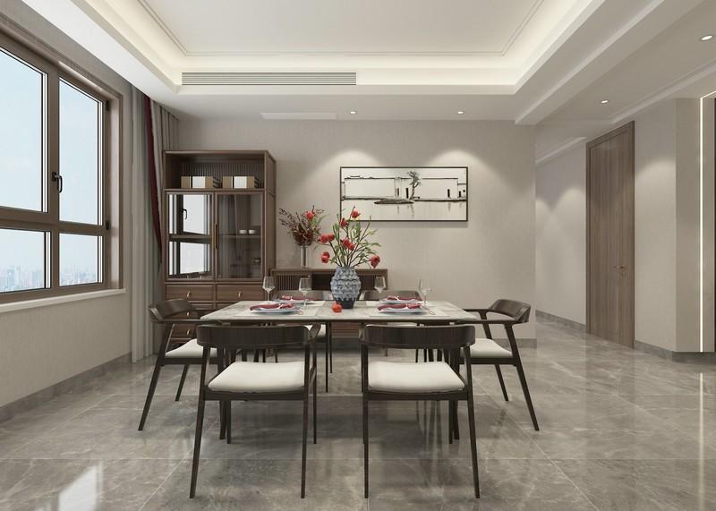 新中式风格装修设计-餐厅装修效果图