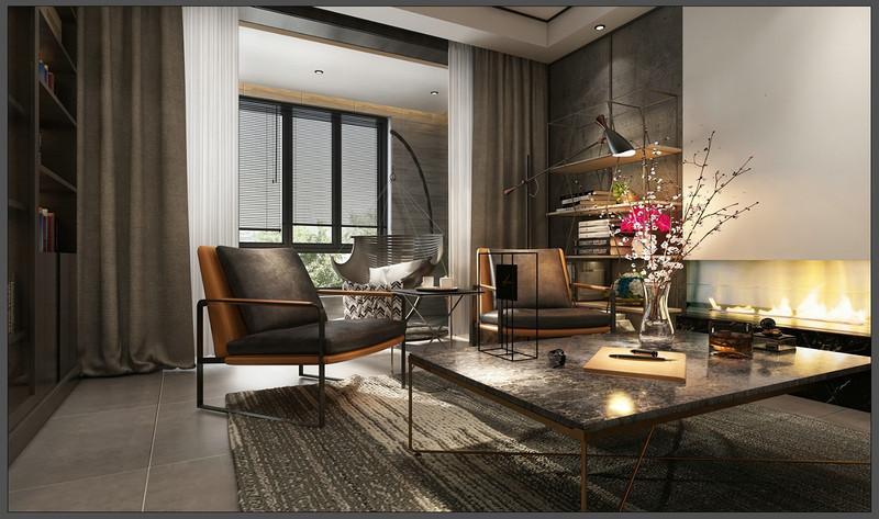 现代风格装修设计-客厅装修效果图